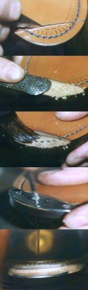 (illustration Pose d'un fer encastré  dans la semelle - AlainMadec.com)